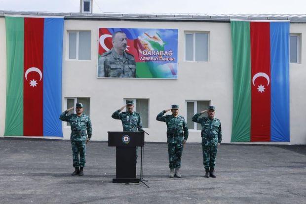 Ermənistanla sərhəddə yeni hərbi hissə fəaliyyətə başladı -